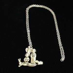 Southwest Sterling Nativity Pin/Pendant Necklace